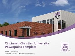 Cincinnati Christian University Powerpoint Template Download   辛辛那提圣经学院与神学院PPT模板下载