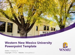 Western New Mexico University Powerpoint Template Download | 西新墨西哥大学PPT模板下载