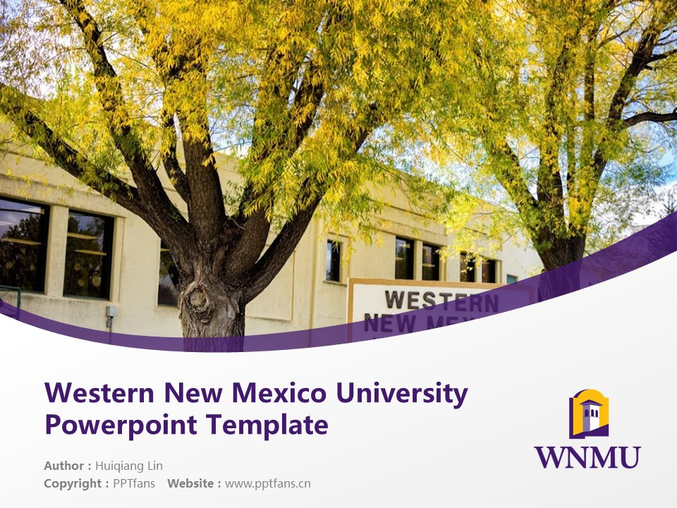 Western New Mexico University Powerpoint Template Download | 西新墨西哥大学PPT模板下载_slide1