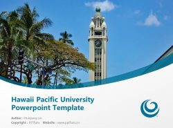 Hawaii Pacific University Powerpoint Template Download | 夏威夷太平洋大学PPT模板下载