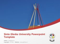 Sinte Gleska University Powerpoint Template Download | 新特格莱斯卡大学PPT模板下载