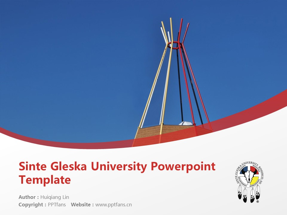 Sinte Gleska University Powerpoint Template Download | 新特格莱斯卡大学PPT模板下载_幻灯片1