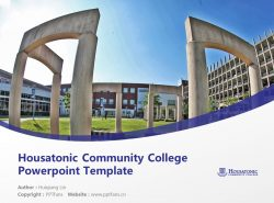 Housatonic Community College Powerpoint Template Download | 休萨托尼克社区学院PPT模板下载