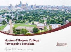 Huston-Tillotson College Powerpoint Template Download | 休斯顿蒂罗森学院PPT模板下载
