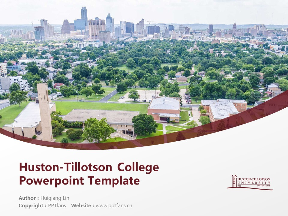 Huston-Tillotson College Powerpoint Template Download | 休斯顿蒂罗森学院PPT模板下载_幻灯片1