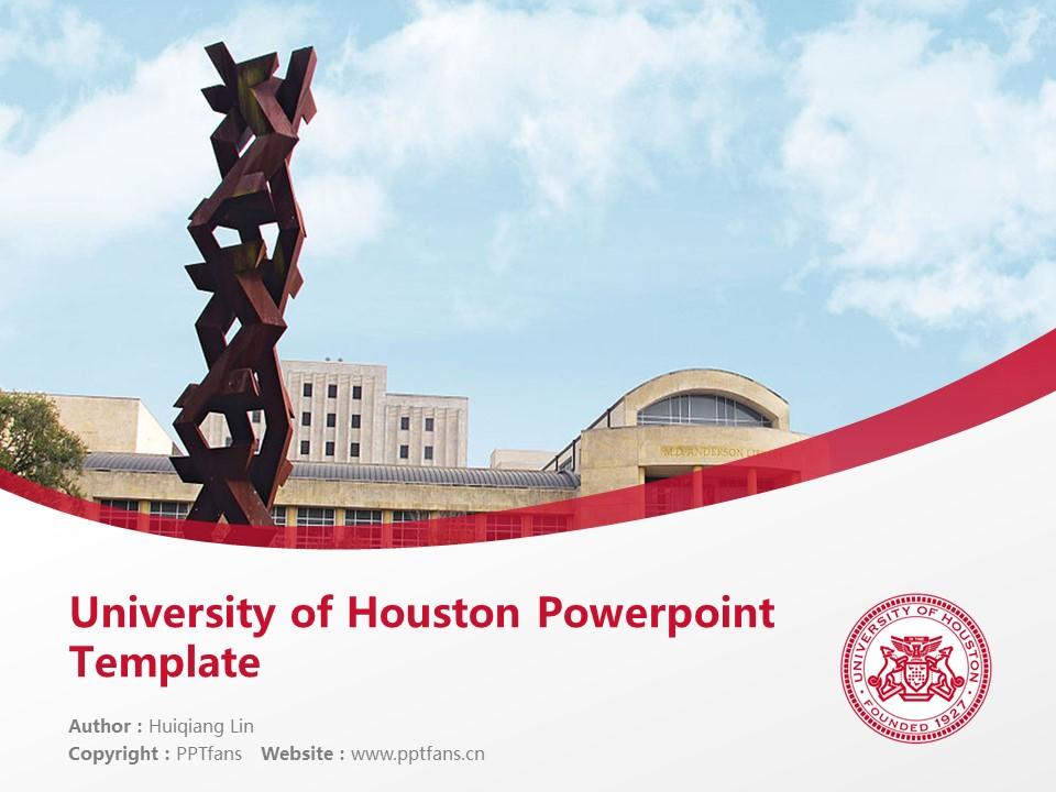 University of Houston Powerpoint Template Download | 休斯顿大学PPT模板下载_幻灯片1