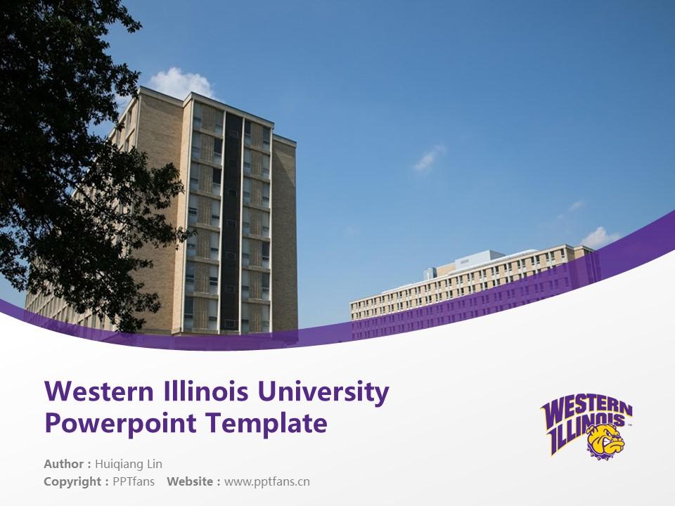 Western Illinois University Powerpoint Template Download | 西伊利诺斯大学PPT模板下载_幻灯片1