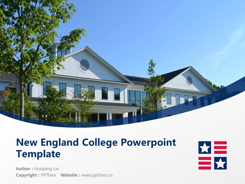 New England College Powerpoint Template Download | 新英格兰学院PPT模板下载_slide1