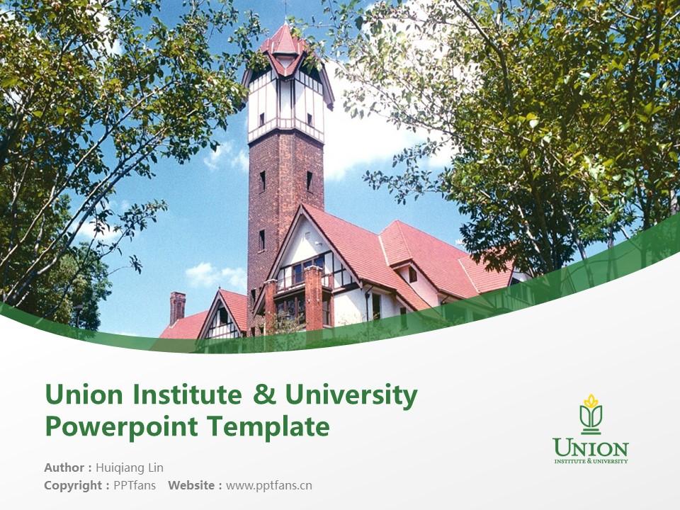 Union Institute & University Powerpoint Template Download | 辛辛那提联合学院与大学PPT模板下载_幻灯片1
