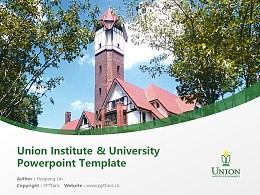 Union Institute & University Powerpoint Template Download   辛辛那提联合学院与大学PPT模板下载