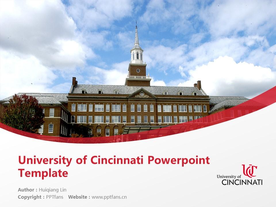 University of Cincinnati Powerpoint Template Download | 辛辛那提大学PPT模板下载_slide1