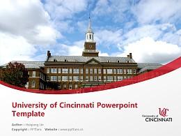 University of Cincinnati Powerpoint Template Download   辛辛那提大学PPT模板下载