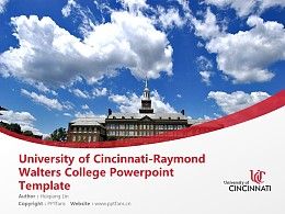University of Cincinnati-Raymond Walters College Powerpoint Template Download   辛辛那提大学-雷蒙德沃尔特斯学院PPT模板下载