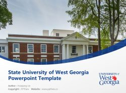 State University of West Georgia Powerpoint Template Download | 西乔治亚州立大学 PPT模板下载