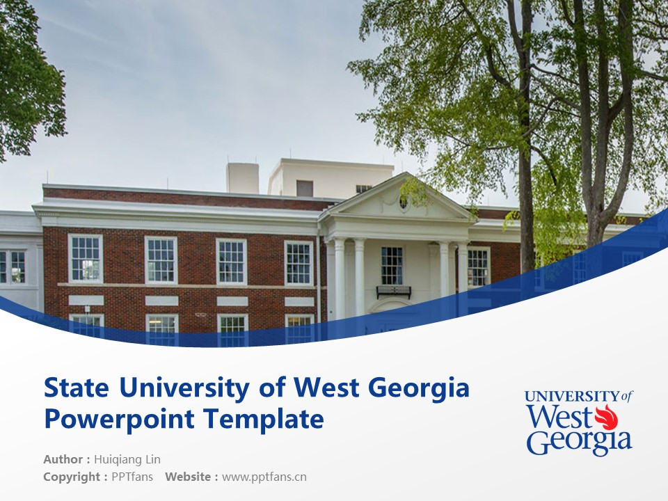 State University of West Georgia Powerpoint Template Download | 西乔治亚州立大学 PPT模板下载_幻灯片1