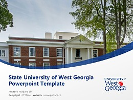 State University of West Georgia Powerpoint Template Download   西乔治亚州立大学 PPT模板下载