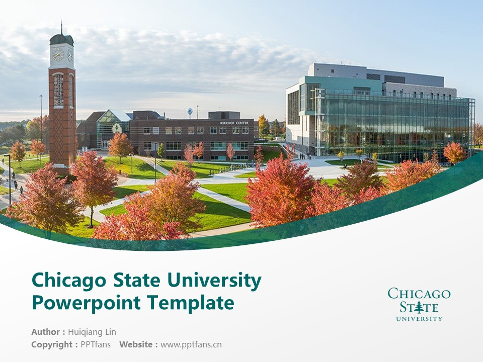 Chicago State University Powerpoint Template Download | 芝加哥州立大学PPT模板下载_幻灯片1