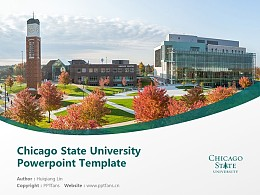 Chicago State University Powerpoint Template Download   芝加哥州立大学PPT模板下载