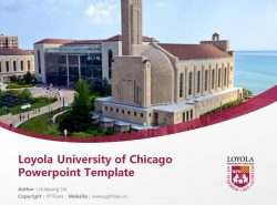 Loyola University of Chicago Powerpoint Template Download | 芝加哥洛约拉大学PPT模板下载