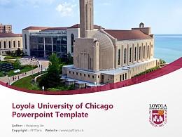 Loyola University of Chicago Powerpoint Template Download   芝加哥洛约拉大学PPT模板下载