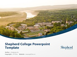 Shepherd College Powerpoint Template Download | 谢泼兹敦学院PPT模板下载