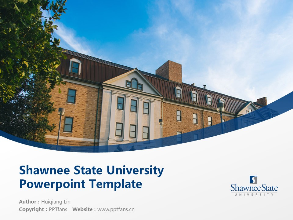 Shawnee State University Powerpoint Template Download | 肖尼州立大学PPT模板下载_幻灯片预览图1