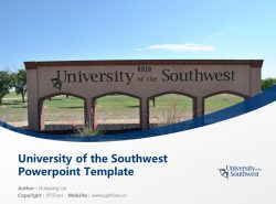 University of the Southwest Powerpoint Template Download | 西南学院PPT模板下载