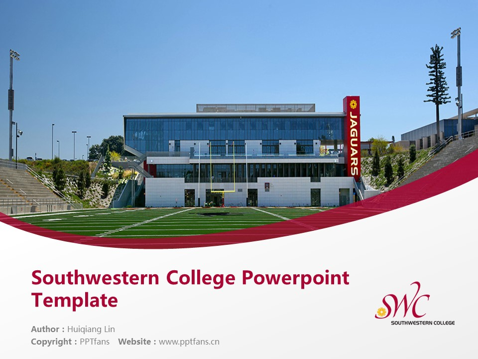 Southwestern College Powerpoint Template Download | 西南学院PPT模板下载_幻灯片1