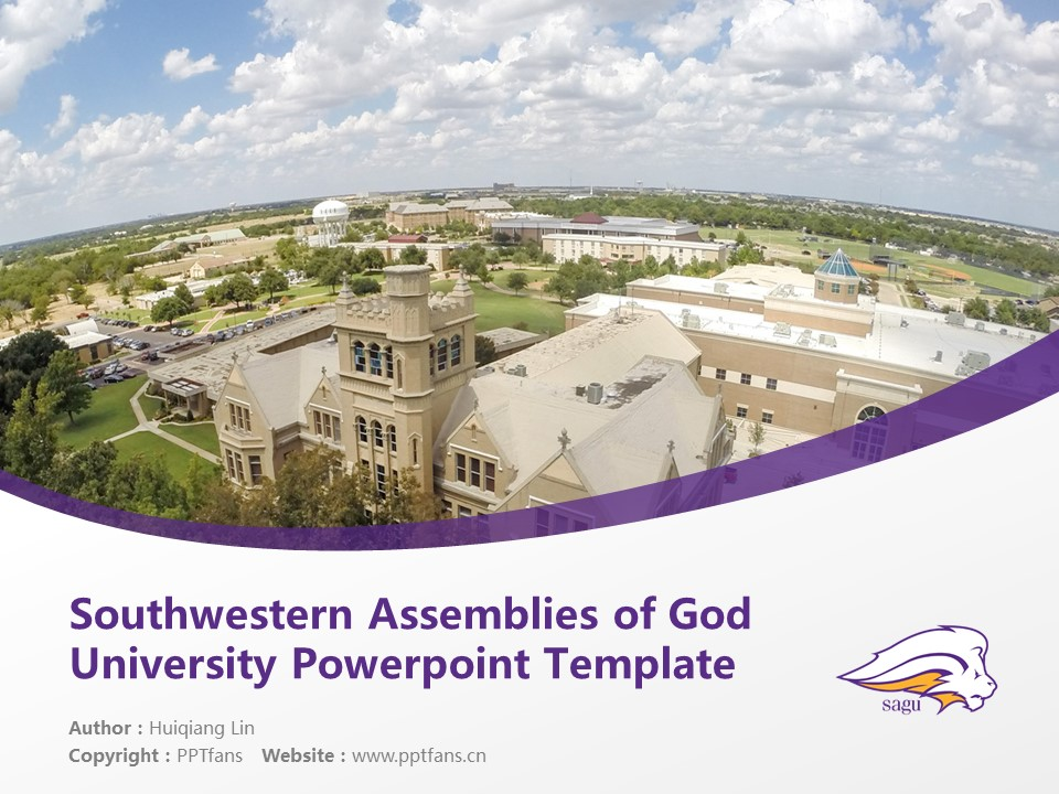 Southwestern Assemblies of God University Powerpoint Template Download | 西南上帝会大学PPT模板下载_幻灯片1