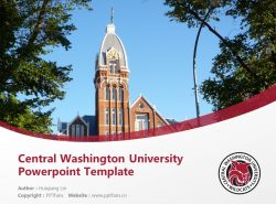 Central Washington University Powerpoint Template Download | 中华盛顿大学PPT模板下载