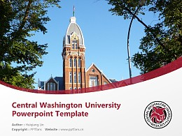 Central Washington University Powerpoint Template Download | 中華盛頓大學PPT模板下載