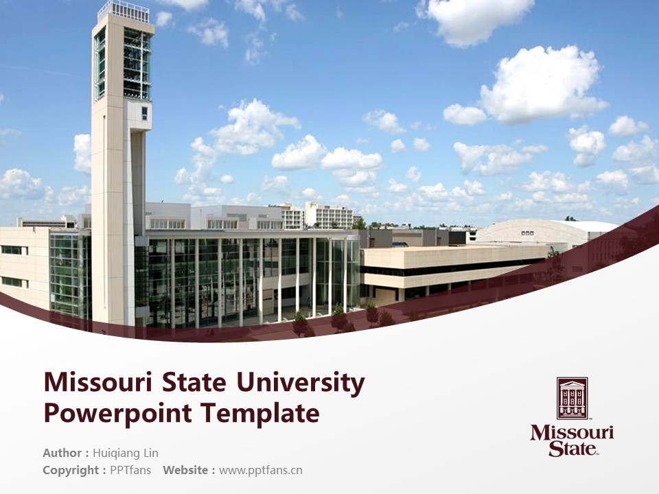 Missouri State University Powerpoint Template Download | 密苏里州立大学PPT模板下载_slide1