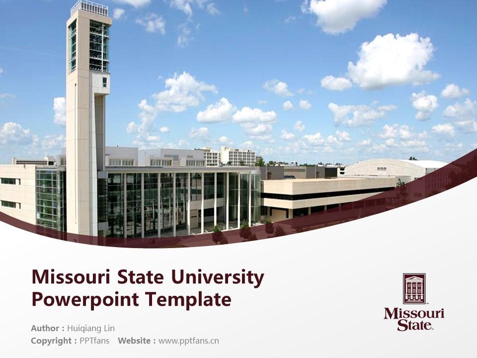 Missouri State University Powerpoint Template Download | 密苏里州立大学PPT模板下载_幻灯片1