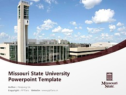 Missouri State University Powerpoint Template Download | 密蘇里州立大學PPT模板下載