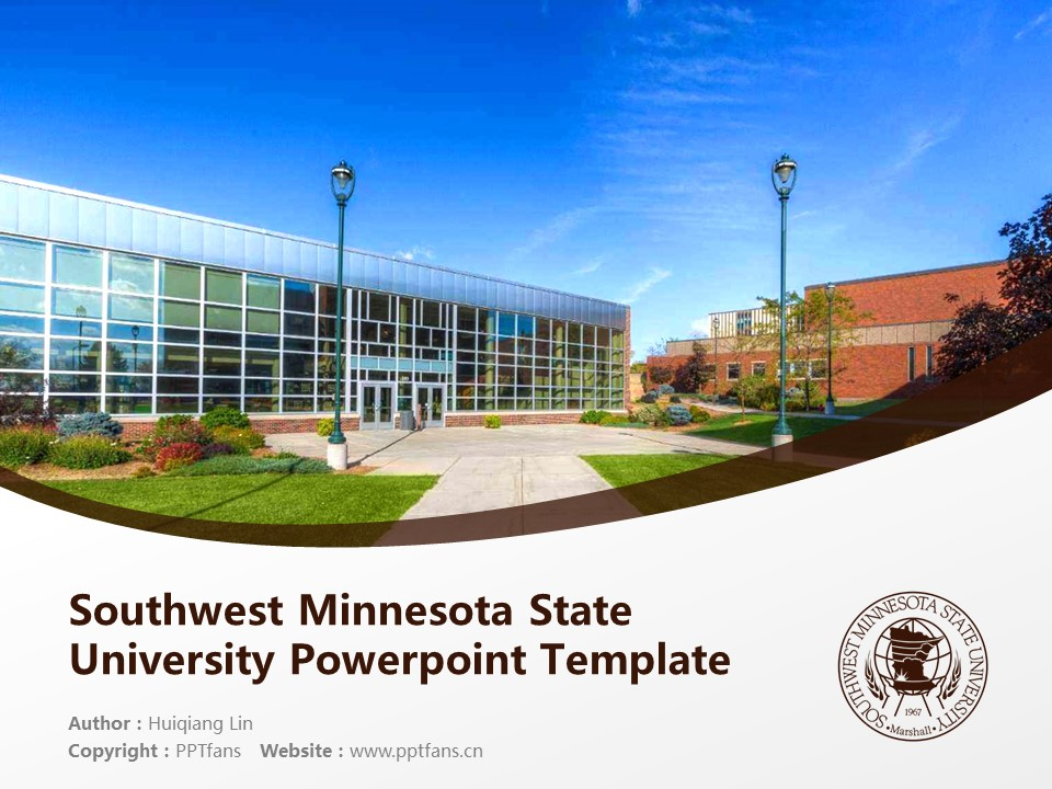 Southwest Minnesota State University Powerpoint Template Download | 西南明尼苏达州立大学PPT模板下载_幻灯片预览图1