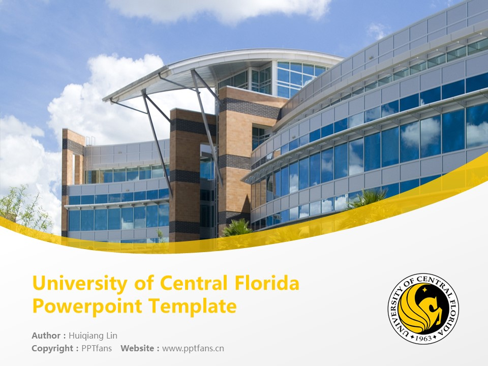University of Central Florida Powerpoint Template Download | 中佛罗里达大学PPT模板下载_slide1