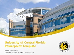 University of Central Florida Powerpoint Template Download | 中佛羅里達大學PPT模板下載