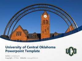 University of Central Oklahoma Powerpoint Template Download | 中俄克拉荷马大学PPT模板下载