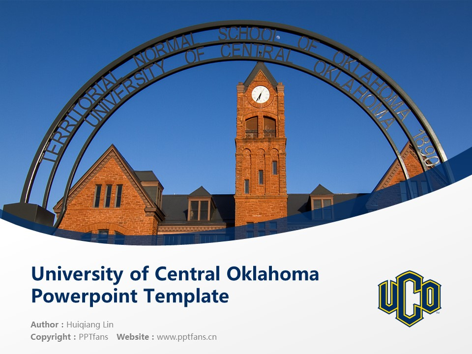 University of Central Oklahoma Powerpoint Template Download | 中俄克拉荷马大学PPT模板下载_幻灯片1