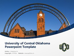 University of Central Oklahoma Powerpoint Template Download | 中俄克拉荷馬大學PPT模板下載