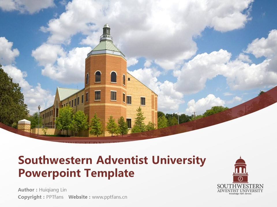 Southwestern Adventist University Powerpoint Template Download | 西南基督复临大学PPT模板下载_slide1