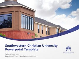 Southwestern Christian University Powerpoint Template Download | 西南基督教大学PPT模板下载