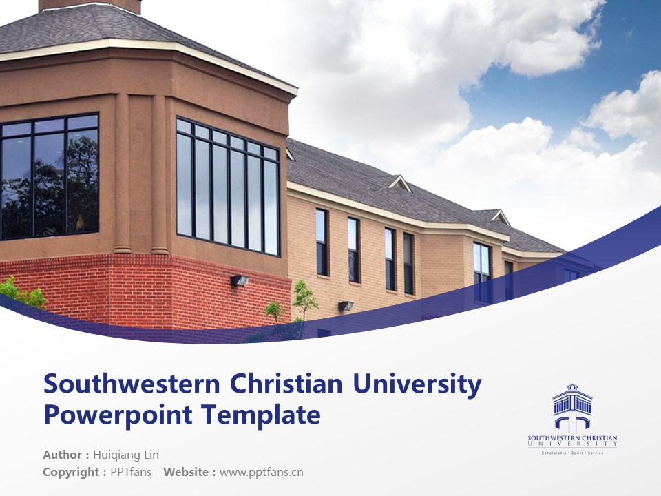 Southwestern Christian University Powerpoint Template Download | 西南基督教大学PPT模板下载_幻灯片预览图1