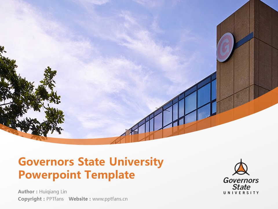 Governors State University Powerpoint Template Download | 州长州立大学PPT模板下载_slide1