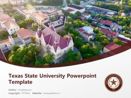 Texas State University Powerpoint Template Download | 西南德克萨斯州立大学PPT模板下载