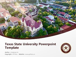 Texas State University Powerpoint Template Download | 西南德克薩斯州立大學PPT模板下載