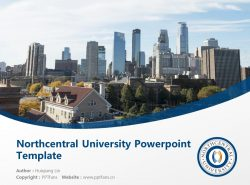 Northcentral University Powerpoint Template Download | 中北大学PPT模板下载