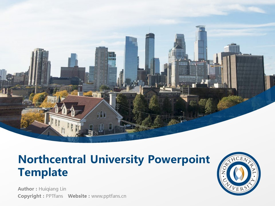 Northcentral University Powerpoint Template Download | 中北大学PPT模板下载_幻灯片1