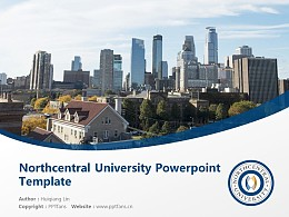 Northcentral University Powerpoint Template Download | 中北大學PPT模板下載