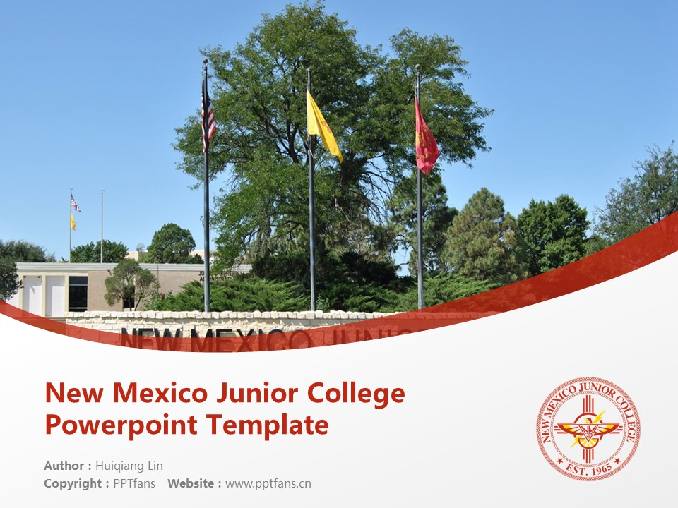 New Mexico Junior College Powerpoint Template Download | 新墨西哥初级学院PPT模板下载_幻灯片1